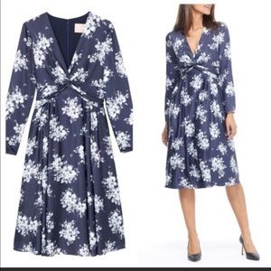 Gal Meets Glam Vienna Twist Front Satinique Dress